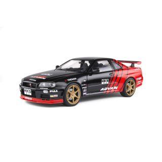 1/18 NISSAN SKYLINE GT-R (R34) ADVAN DRIFT LIVERY-1999